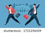 business during the coronavirus ... | Shutterstock .eps vector #1721256439