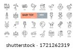 vector baby toy icons. editable ... | Shutterstock .eps vector #1721262319