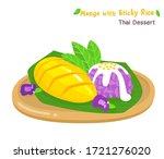 thai dessert mango  with sticky ... | Shutterstock .eps vector #1721276020