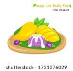 thai dessert mango  with sticky ... | Shutterstock .eps vector #1721276029