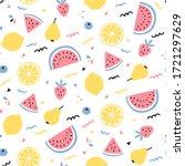 tropical fruit mix seamless... | Shutterstock .eps vector #1721297629
