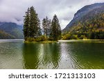 Cold Autumn In The Alps. The...