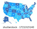 united states of america map.... | Shutterstock .eps vector #1721315140