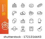 bakery shop elements   minimal... | Shutterstock .eps vector #1721316643
