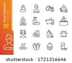 spa salon vector line icons set.... | Shutterstock .eps vector #1721316646