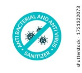 antibacterial covid sign icon.... | Shutterstock .eps vector #1721322073