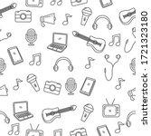music and media seamless...   Shutterstock .eps vector #1721323180