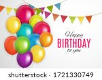 color glossy happy birthday...   Shutterstock .eps vector #1721330749