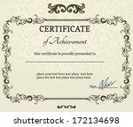 elegant classic certificate of... | Shutterstock .eps vector #172134698