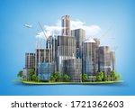 line from skyscrapers in... | Shutterstock . vector #1721362603