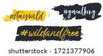 stay wild go walking hashtags...   Shutterstock .eps vector #1721377906