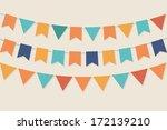 vector party flags in pastel... | Shutterstock .eps vector #172139210