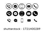 set of communication icons set... | Shutterstock .eps vector #1721400289