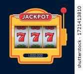 slot machine game yellow. win... | Shutterstock .eps vector #1721413810
