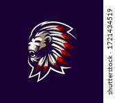 lion logo design art... | Shutterstock . vector #1721434519