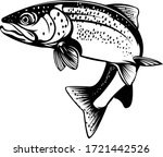 trout illustration. the vector... | Shutterstock .eps vector #1721442526