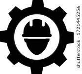 engineer icon on white...