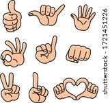 cartoon hands set. different... | Shutterstock .eps vector #1721451226