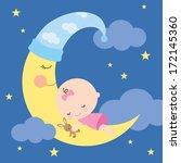 vector illustration of a baby... | Shutterstock .eps vector #172145360