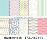 pastel color seamless geometric ... | Shutterstock .eps vector #1721461696