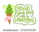 matcha green tea ice cream and...   Shutterstock .eps vector #1721473159