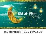 eid al fitr  mubarak text means ... | Shutterstock .eps vector #1721491603
