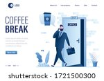 coffee break landing page... | Shutterstock .eps vector #1721500300
