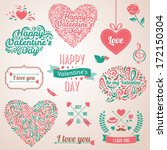 happy valentines day and... | Shutterstock .eps vector #172150304