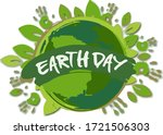 vector day of earth... | Shutterstock .eps vector #1721506303
