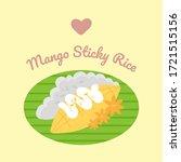 mango sticky rice flat vector... | Shutterstock .eps vector #1721515156