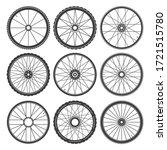 fitness bicycle wheels. bike...   Shutterstock .eps vector #1721515780