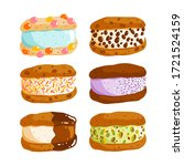 cookie ice cream sandwiches... | Shutterstock .eps vector #1721524159