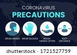 coronavirus precautions wear... | Shutterstock .eps vector #1721527759