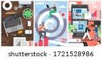office work vector poster... | Shutterstock .eps vector #1721528986