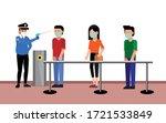 temperature screening for covid ...   Shutterstock .eps vector #1721533849