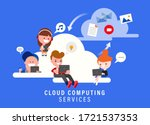 cloud computing services... | Shutterstock .eps vector #1721537353