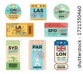 baggage tags. retro tickets for ...   Shutterstock .eps vector #1721550460