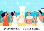 greece travel. antique places ... | Shutterstock .eps vector #1721553883