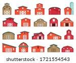 barn vector cartoon icon.... | Shutterstock .eps vector #1721554543