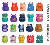 school bag vector cartoon icon. ... | Shutterstock .eps vector #1721555203