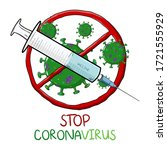 corona virus 2020. covid 19.... | Shutterstock .eps vector #1721555929