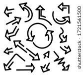 hand drawn arrows  vector set... | Shutterstock .eps vector #1721561500