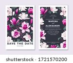botanical wedding invitation... | Shutterstock .eps vector #1721570200