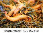 thai food  fried prawns with... | Shutterstock . vector #172157510