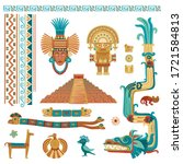 vector stylized color set of...   Shutterstock .eps vector #1721584813