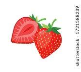 ripe delicious strawberry... | Shutterstock .eps vector #1721588239