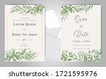 elegant foliage frame wedding... | Shutterstock .eps vector #1721595976