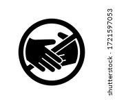 cutout silhouette contactless... | Shutterstock .eps vector #1721597053