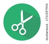 scissors flat simple icon with...   Shutterstock .eps vector #1721597953