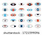 evil eyes icons. set of flat... | Shutterstock .eps vector #1721599096